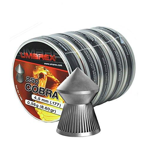 Umarex Cobra Diabolos - Piombini per fucile e pistola ad aria compressa, 4,5 mm, a punta.