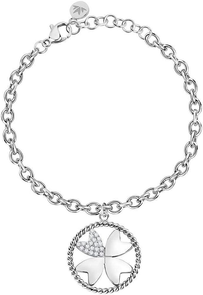 Morellato, bracciale da donna, collezione multigipsy, in acciaio e cristalli SAQG37