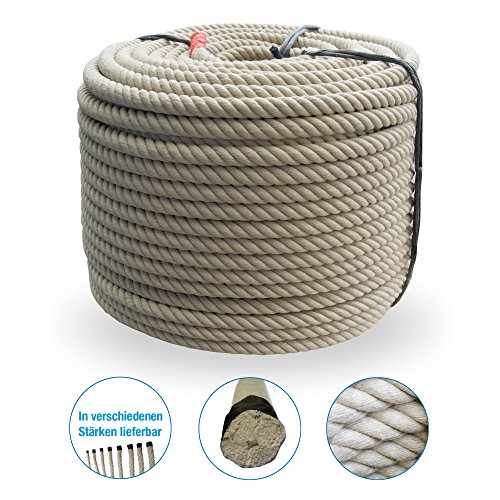 Grevinga® Polypropylen Spinnfaserseil - Kunststoffseil - Seil - Hanfseil Optik Ø 20 mm (10 m)