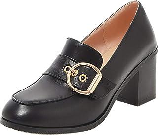 VulusValas Women Comfort Block Heel Office Pumps