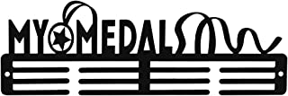 Medal Holder Display Hanger Rack Medals Black Medal Holder Wall Mount Running Medal Frame Holds Upto 24-30 Medals by Sehaz...