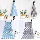 JZK 2 x Sterne Latzschürze Kochschürze Küchenschürze mit 2 Taschen Grillschürze Backschürze für Damen für Küche Garten BBQ - 5