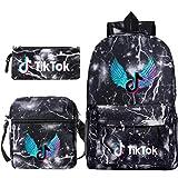 TIKTOK - Mochila y bolsas de viaje para niños y niñas Ray Blacka 11*6*16(in)
