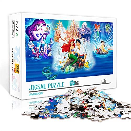 WJHXYD Teens 1000 Piece Jigsaw Puzzle La Sirenita Adultos 1000 Piece Jigsaw Puzzle Artwork Jigsaws Regalos de Bricolaje para Adultos Adolescentes Niños 75x50cm