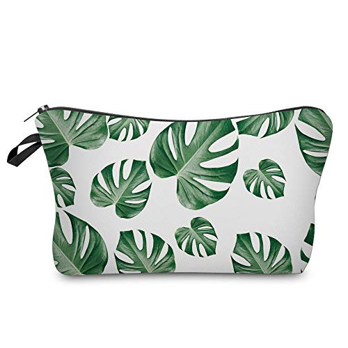Utility Palm Leaves Cute Pencil Case Holders, Large Capacity Student Pencil Pouch Bag, Zippered Stationary Case, Adorable Roomy Make Up Cosmetic Bag (HZC206)