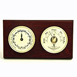 Weather Station - Cape Cod Tide Clock - Barometer - Thermometer - Mahogany
