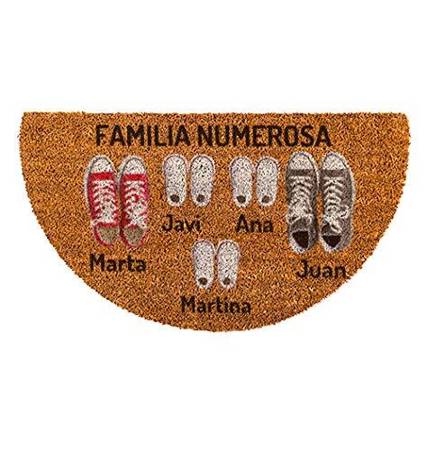 NANNUK - Felpudo Personalizado Semicircular Fibra de Coco Familia 5