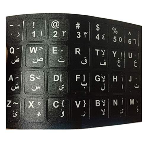 LUGEUK Hebräische arabische persische französische Tastatur-Aufkleber-Schreibpraxis-Lernsprache farbige Wurzel-Tabellen-Buchstabe-Aufkleber (Color : F)