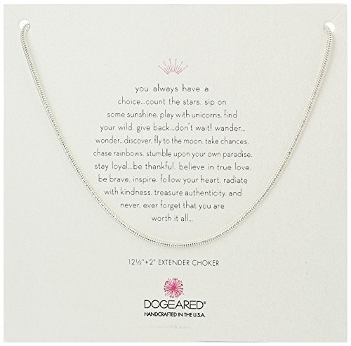 Dogeared Sparkle Rope Chain Sterling Silver Choker Necklace, 12.5