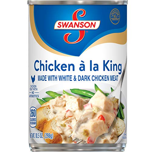 Swanson Chicken á la King Made with White and Dark Meat Chicken, 10.5 Ounce Can (Pack of 12)