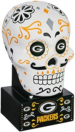 Team Sports America Green Bay Packers 期間限定 Skull ストア Statue Sugar