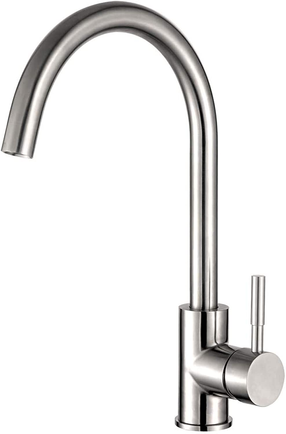 Kitchen Faucet, Stainless Steel Faucet, 360° redating Kitchen Sink Faucet, Hot and Cold Single Handle Kitchen Faucet