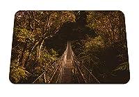 22cmx18cm マウスパッド (吊り橋橋の木) パターンカスタムの マウスパッド