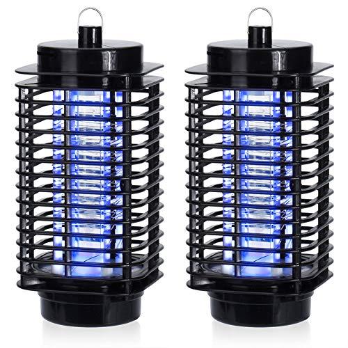 Monzana 2X Elektrischer Insektenvernichter Fliegenfalle | 50m² | UV - Licht | 2 Reinigungsbürste | Insektenfalle Insektenabwehr