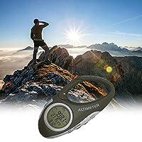 Funien アウトドアキャンプクライミング高度計カラビナ気圧計高さ測定温度計付き多機能カラビナ高度計天気予報方位モード