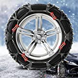 QCYP Snow Chain is Suitable for RAV4 225/65R17 235/55R18 Automobile tire Emergency Chain,Default 2 Wheels,225-235