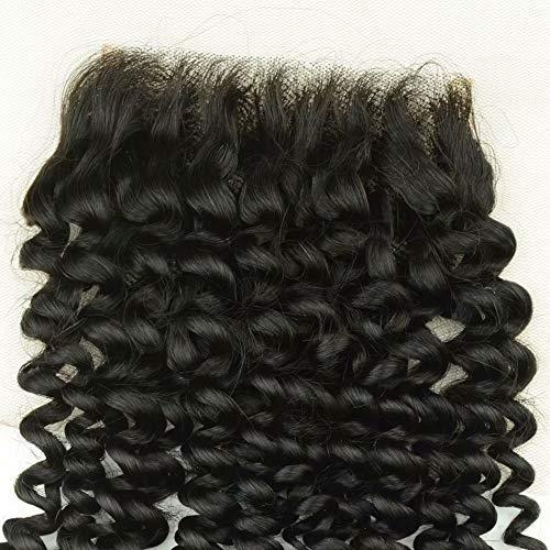 Partie Gratuite Péruvienne Cheveux Fermeture Kinky Curl 4x4 Partie Centrale Vierge Attachement de Cheveux Humains Jerry Bouclés Extension de Cheveux 1 piece 16inch
