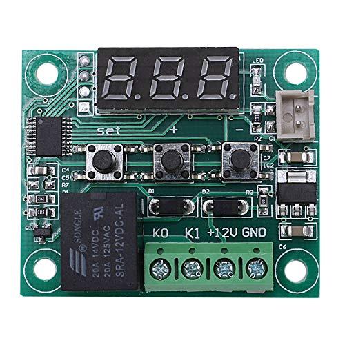SODIAL 2Pcs 12V DC Tablero Controlador de Temperatura Digital Termostato Micro-Digital -50-110 Centigrados Interruptor de MóDulo de ElectróNico con Relé de un Canal 10A e Impermeable