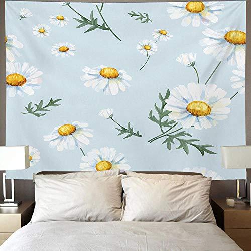 DFGNMB flor decoración del hogar, tapiz de decoración de cabecera, se puede utilizar para sala de estar dormitorio decoración de dormitorio colgante de pared decoración de arte de pared-150 * 130