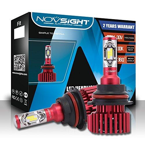 LED Phare Ampoules Tout-En-Un Kit De Conversio - Ampoules Réglables-Faisceau - 9005/9006/9007 / D1, Puces Extrêmement Brillantes CSP 60W 10000Lm - IP65 Blanc Lumineux 6500K Imperméable,9007