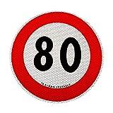 4R Quattroerre.it 31842 Contrassegno Limite velocità 80 km/h Adesivo Omologati EU...