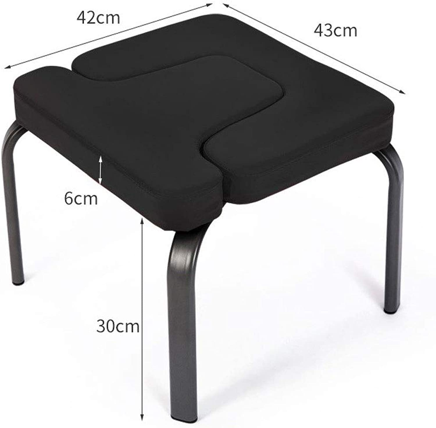 North cool Ingreened Chair, Yoga Auxiliary Chair, Home Fitness Ingreened Stool, Ingreened Auxiliary Stool (color   Black)
