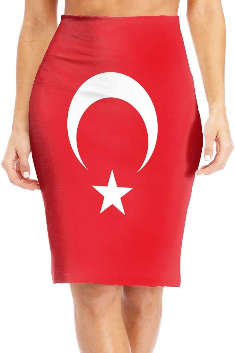 GQOP Women's Midi Pencil Skirt Flag Stretch Turkey High A surprise price is realized Max 42% OFF Waist of