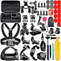 Neewer 44-in-1 Action Camera Accessory Kit, Compatible with GoPro Hero 4/5 Session, Hero 1/2/3/3+/4/5/6, SJ4000/5000, Nikon and Sony Sports Dv in Swimming Rowing Climbing Bike Riding Camping and More by Neewer
