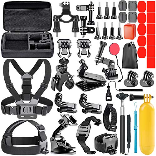 Neewer 44-in-1 Action Camera Accessory Kit, Compatible with GoPro Hero 4/5 Session, Hero 1/2/3/3+/4/5/6, SJ4000/5000, Nikon and Sony Sports Dv in Swimming Rowing Climbing Bike Riding Camping and More