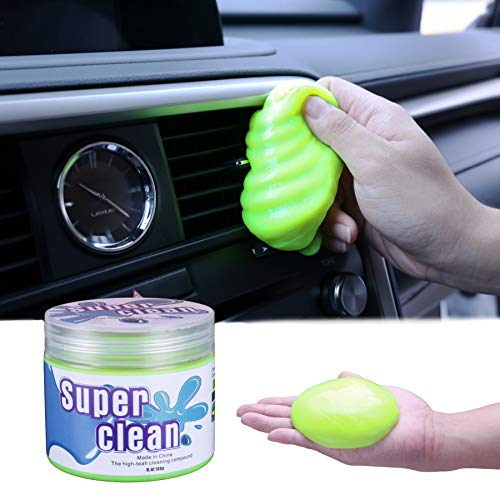 JUSTTOP Universal Cleaning Gel for Car, Detailing Putty Gel Detail Tools Car Interior Cleaner Laptop Cleaner(Yellow)
