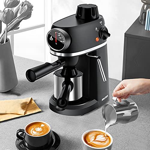 SOWTECH Espresso Machine, Cappuccino Machine with Steam Milk Frother, 3.5 Bar Latte Coffee Maker