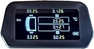 mewmewcat Monitor de pressão de pneus de caminhão leve sem fio solar de alta precisão 6 pneus Display em tempo real Sensor...