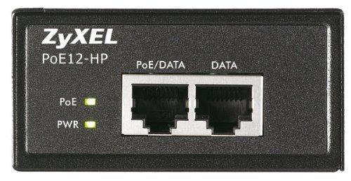 Zyxel Single Port 802.3at PoE+ Injector / Injektor (bis zu 30 Watt) über Ethernet-Kabel (10/100/1000Base-T) [POE12-HP]