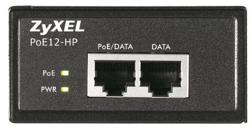 Zyxel Single Port 802.3at PoE+ Injector / Injektor (bis zu 30 Watt) über Ethernet-Kabel (10/100/1000Base-T) [POE12-HP]