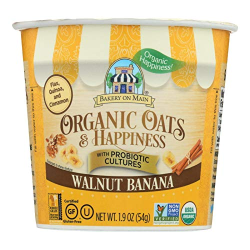 BAKERY ON MAIN, OAT&HPYNS, OG2, WALNUT, BAN, Pack of 12, Size 1.9 OZ - No Artificial Ingredients Gluten Free GMO Free Wheat Free 95%+ Organic