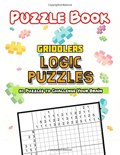 Griddlers Logic Puzzles: Nonograms Picross Hanjie Puzzle book, Japanese Crossword Picture Logic Puzzles.