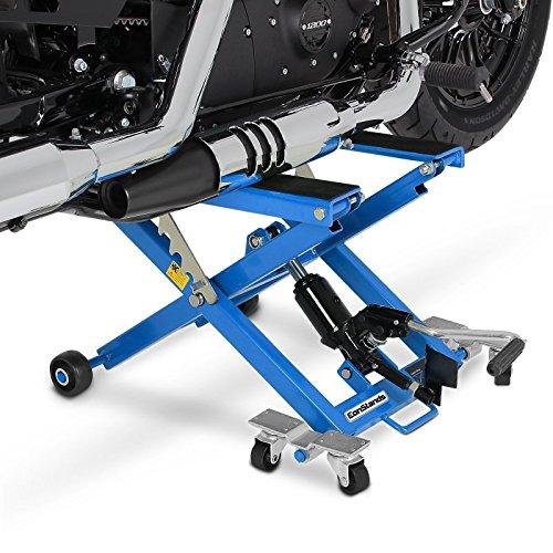 ConStands - Motorrad Hebebühne Hydraulisch XL 500kg Scherenheber Hydraulik-Lift Blau