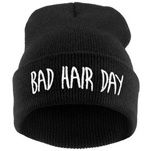 Gorro de lana de estilo hip-hop para mujer - Accesorio para el pelo de invierno