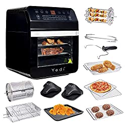 Yedi Total Package Air Fryer Toaster Rotisserie Oven
