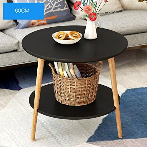 GWF Nordic eenvoudige moderne hoek woonkamer mini ronde tafel bank kant eenvoudige massief hout ronde kleine salontafel bijzettafel