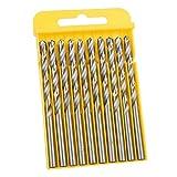 Belissy 20 us Espiral Broca de Acero de Alta caña Recta de 3 Puntos Auger Broca for Taladro eléctrico (5,5 mm)