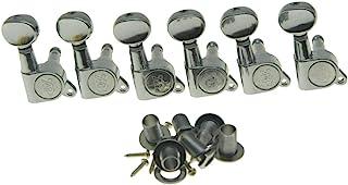 Wilkinson Mini Oval Button 6 Inline Chrome E-Z-LOK Post Guitar Tuners EZ Post Guitar Tuning Keys Pegs Machine Heads
