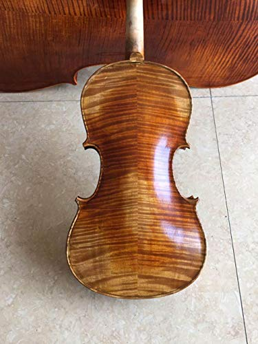 LOIKHGV natürliche dichte Flamme 100% Top Öllack Handgefertigte Geige 4/4 Massivholz Professionelle Retro Geige Fall Brasilien Bogen, Pink