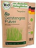 veganflow® Gerstengras Pulver Bio 500g aus Deutschland, laborgeprüftes und reines Bio Gerstengraspulver für Smoothies, vegan