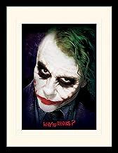 """DC Comics The Dark Knight 30 X 40 cm""""Joker Face"""" gemonteerd en ingelijst afdrukken"""