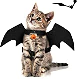 SIHUAN Black Cat Bat Wings Cosplay-Cat Halloween Costume-Pet Costumes Apparel for Cat Small Dogs Puppy for Cat Dress Up Accessories (with Bell)