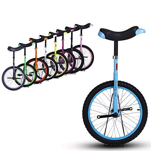 """Einrad Anfänger/Kinder/Kind 14\""""Einräder, Kleine Jungen/Mädchen Kleine Balance Uni-Cycle, 5/7/8 Jahre Alt, Free Stand Fashion Outdor Exercise Einrad (Color : Blue)"""