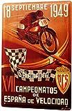 mengliangpu8190 Aluminum Sign, Retro Sign Vintage Tin Sign Metal Wall Plaque Poster Garage Cup Salamanca Spain 12' x 18' Metal Sign