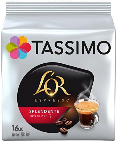 Tassimo Café Dosettes - 80 boissons L'Or Espresso Splendente (lot de 5 x 16 boissons)
