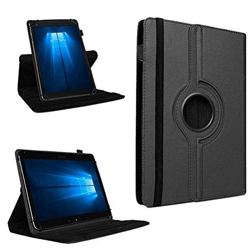 UC-Express Tablet Tasche 360° Drehbar Vodafone Tab Prime 7 Hülle Schutzhülle Universal Hülle Cover, Farben:Schwarz